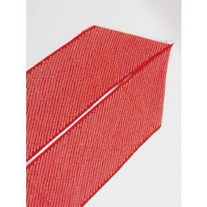 【絞り 半えり】正絹 日本製 /鹿の子☆赤白【新品】メール便可|kimono-maruichi