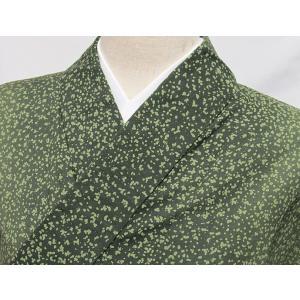 ●さらに!値引きしました30%OFF 使用感なし 浴衣 糊こぼし風/グリーン濃淡☆156cmベスト/リサイクル/中古|kimono-maruichi