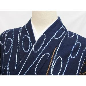 ●さらに!値引きしました20%OFF【浴衣】縦縞取り 肩当て意識当て付き/藍 白 他☆148cmベスト/リサイクル/中古|kimono-maruichi