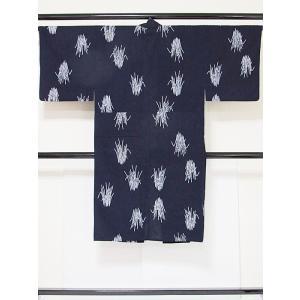 【男物】浴衣 とくさ/藍 白【美品】|kimono-maruichi