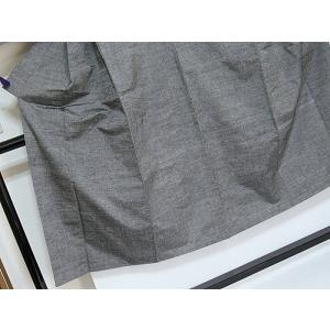 使用感なし【男物 紬アンサンブル】紬/着物 羽織(羽織紐付き) アンサンブル/ダークグレー☆168cm前後ベスト【超美品】 kimono-maruichi 05