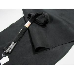 ●さらに!値引きしました20%OFF【未使用】【黒 喪用】☆正絹☆帯締め帯揚げセット★s125-s330|kimono-maruichi
