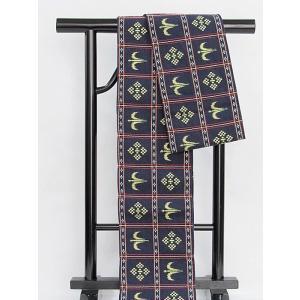 ●さらに!値下げしました20%OFF【小袋帯】【半巾帯】琉球柄/綿/浴衣 街着 おしゃれ着に♪★紺【美品】 kimono-maruichi
