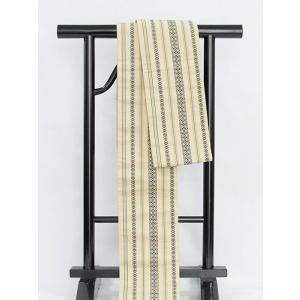 【小袋帯】【半巾帯】博多 献上柄 両面仕様/絹/浴衣 街着 おしゃれ着に♪★ベージュ kimono-maruichi