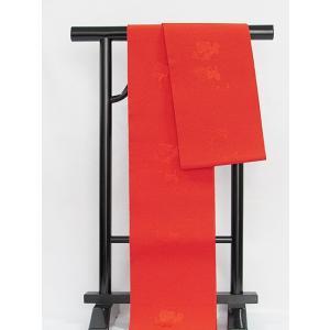 ●さらに!値引きしました30%OFF【半巾帯】単衣帯/化繊/浴衣 街着 おしゃれ着に♪★朱赤 kimono-maruichi
