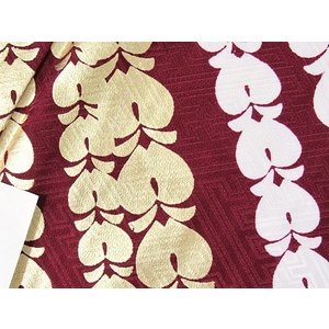 洗えるキモノ 附下げ 単衣 藤 金 白 斜段取り☆155cm前後ベスト/踊り 舞台 ステージ イベント|kimono-maruichi|14