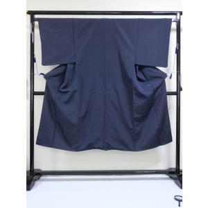 【男物】お召袷着物  大変良い状態です!! 164cm前後ベストサイズ☆紺|kimono-maruichi