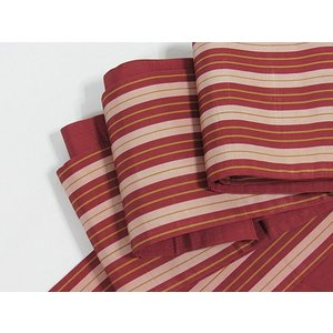 【半巾帯】正絹半巾 縞/浴衣 街着 おしゃれ着に♪★赤茶 kimono-maruichi