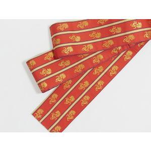 特選 新品・アウトレット 希少  西陣 細帯 3寸帯 金花 唐紅花 ビビットレッド  超優品 お薦めです kimono-maruichi