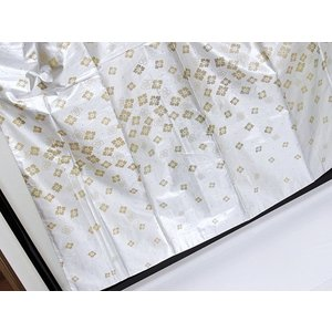 洗えるキモノ【単衣 小紋】八掛付き 付け袖 付け衿 イベント用きもの 踊り 舞台など/シルバー☆155cm前後ベスト|kimono-maruichi|03