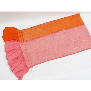【帯揚げ 2枚セット】正絹 絞り無地帯揚げ/朱赤 ピンク【お値打ち】 kimono-maruichi