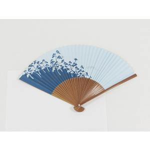 【アウトレット 展示品】京扇子 松寿扇/松☆水色 ブルー|kimono-maruichi