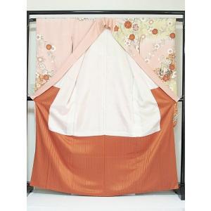 さらに値下げしました20% 振袖 正絹 紋綸子 鴇色(ときいろ) 御所車 167cm前後の方 美品 お薦めです|kimono-maruichi|03