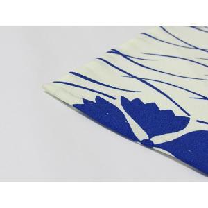 洗えるキモノ【単衣 小紋】露芝 撫子/ペールイエローグリーン☆146cm前後ベスト【美品】|kimono-maruichi|09