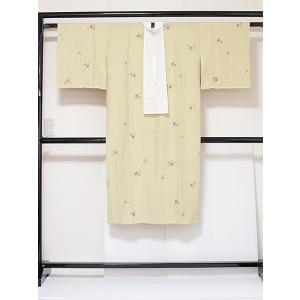 ●さらに!値下げしました20%OFF【長襦袢】【袷 胴抜き】正絹/半えり付き(正絹) 衿抜き付き/糸巻/イエローグリーン☆157.5cm前後ベスト【美品】|kimono-maruichi