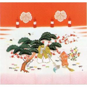 加賀友禅 花嫁のれん 尉と姥(じょうとばあ) 本染め 花嫁のれん号、花嫁のれん館、TVドラマでも放映|kimono-morizen