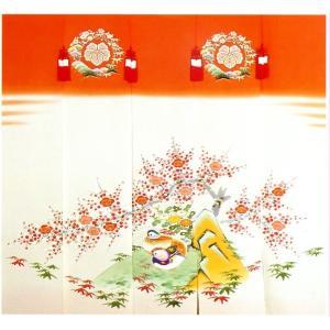 加賀友禅 花嫁のれん おしどり 手描き 花嫁のれん号、花嫁のれん館、TVドラマでも放映 婚礼家具 婚礼道具|kimono-morizen
