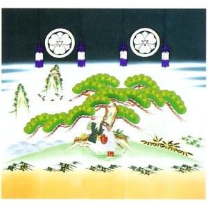 加賀友禅 花婿のれん 尉と姥(じょうとばあ)手描き 花嫁のれん号、花嫁のれん館、TVドラマでも放映 婚礼家具 婚礼道具|kimono-morizen