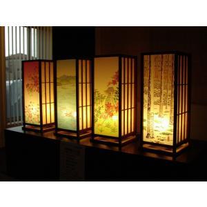 加賀友禅能登ヒバ行灯 オーダーメイド お誂え あんどん 行燈 kimono-morizen
