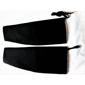 祭り長手甲 こだわり寸法オーダーメイド  黒久留米絣生地 腕抜き 太鼓手甲|kimono-morizen