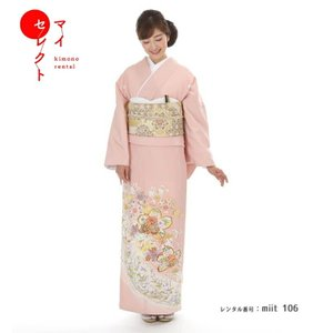 色留袖 レンタル〔miit_106/色留袖 N-46 吉祥彩...