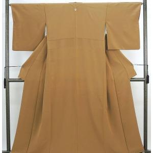 色無地 未着用超美品 正絹 キャメル色地 色無地 未使用  新古品  着物|kimono-syoukaku