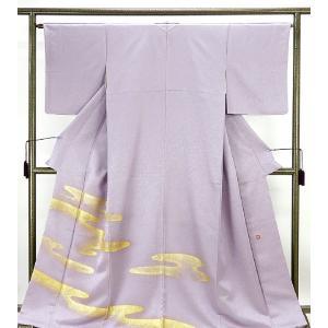 色留袖 正絹 久保田一竹 一竹辻が花 一竹工房 霞模様 色留袖 美品  リサイクル  着物|kimono-syoukaku