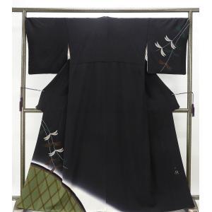訪問着 正絹 染色作家 斉藤三才作 訪問着 リサイクル  着物