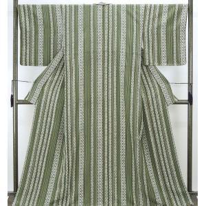 小紋 新品仕立済 正絹 縦縞幾何模様 小紋 新品  仕立て上がり  着物|kimono-syoukaku
