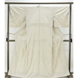紬 未着用美品 ぜんまい絣縞紬 絣縞 紬 未使用 新古品 着物 kimono-syoukaku