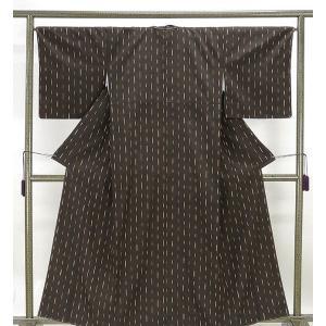 紬 未着用美品 正絹 幾何模様 紬 未使用  新古品  着物 kimono-syoukaku
