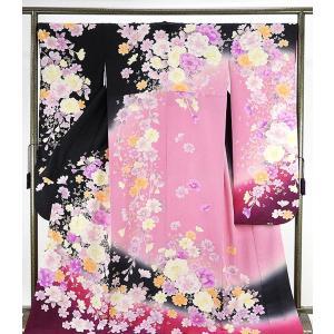 振袖 正絹 花模様 振袖 美品  リサイクル  着物|kimono-syoukaku