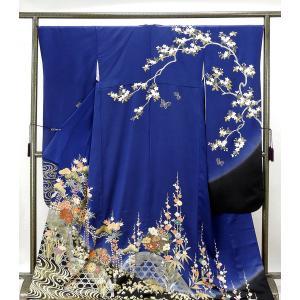 振袖 正絹 四季花模様 振袖 リサイクル 着物
