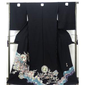 留袖 新品仕立付き 正絹 加賀友禅奥原一就作 留袖 新品  未仕立  フルオーダー  誂え仕立て|kimono-syoukaku