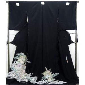 留袖 新品仕立付き 正絹 加賀友禅河江真百美作 留袖 新品  未仕立  フルオーダー  誂え仕立て|kimono-syoukaku
