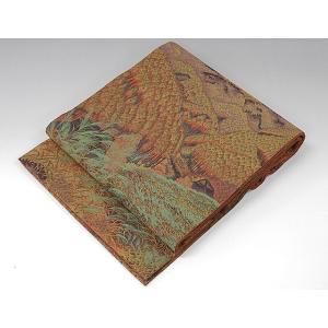 袋帯 正絹 木立風景模様 袋帯 良品  リサイクル|kimono-syoukaku