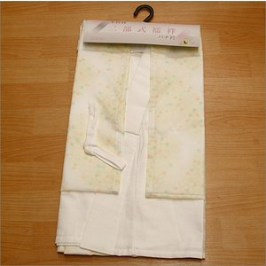 日本製 洗える 二部式襦袢  黄色のぼかし地に小花柄(衣紋抜き&胸紐&白半衿付き)|kimono-waku