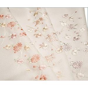 半襟 刺繍 半衿 白 洗える 着物 華柄 日本製 |kimono-waku