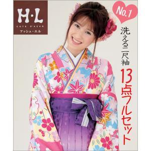 二尺袖&袴(はかま) H・Lブランド  《No1》 13点フルセット取り寄せ品 |kimono-waku