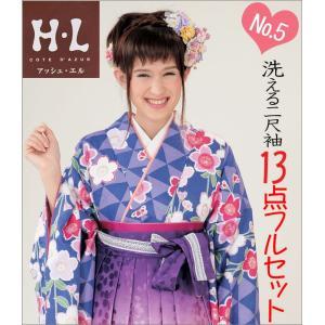 二尺袖 袴セット 新品 H・Lブランド  《No5》 13点フルセット取り寄せ品 |kimono-waku