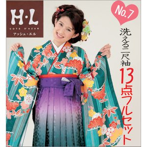 二尺袖 袴セット 新品 H・Lブランド  《No7》 13点フルセット取り寄せ品 |kimono-waku
