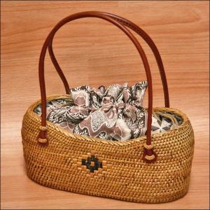 浴衣用の籠バッグ(アタ)17-4.巾着付き kimono-waku