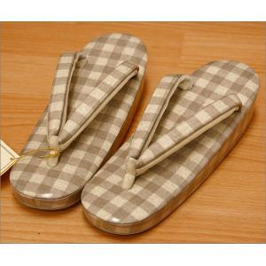 草履 レディース 普段履き 登紀和屋 謹製 市松柄の草履 Mサイズ|kimono-waku