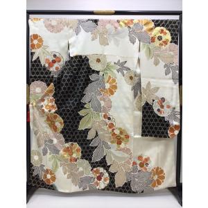 籠目文様 振袖 kimono-waraji