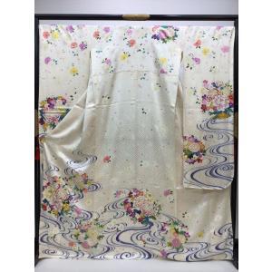 流水に四季花 振袖 長襦袢付き kimono-waraji
