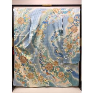唐花文様 振袖(長襦袢付) kimono-waraji