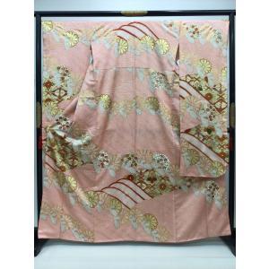 波に菊文様 振袖 (長襦袢付き) kimono-waraji