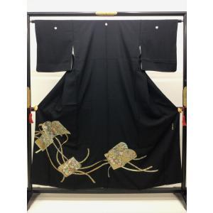 黒留袖 刺繍 文庫 kimono-waraji