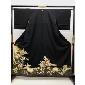 黒留袖 鶴 四季花 kimono-waraji