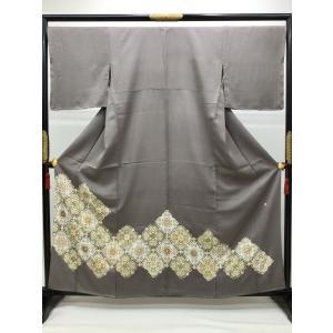 色留袖 紋なし kimono-waraji